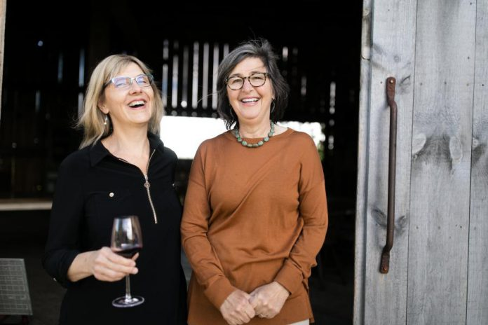 Walton Food Farm owner Leslie Scott and South Pond Farm owner Danielle French say their business collaboration, with Walton Food Farm selling South Pond Farms gourmet food products, is just the beginning of what they plan to do together. (Photo: Ash Nayler Photography)