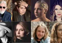 """Some of the Peterborough-area singer-songwriters participating in 4th Line Theatre's four """"The Barnyard Sessions"""" concerts this fall. Top row: Greg Keelor, Sean Conway, Evangeline Gentle, and Kate Suhr. Bottom row: Dylan Ireland, Melissa Payne, Benj Rowland, and Lauryn Macfarlane. (kawarthaNOW collage of supplied photos)"""