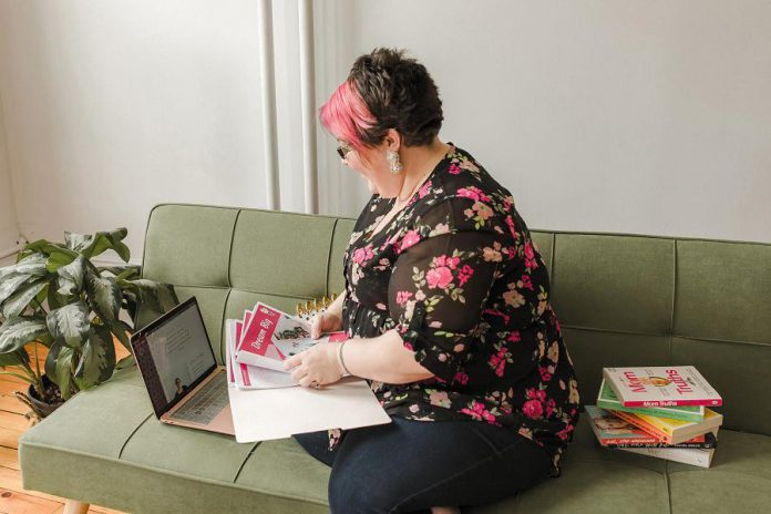 Before the pandemic, Ashley Lamothe's Creative Kwe creativity coaching business offered in-person services. In response to public health restrictions during the pandemic, Lamothe began offering virtual coaching and workshops. (Photo: Heather Doughty)