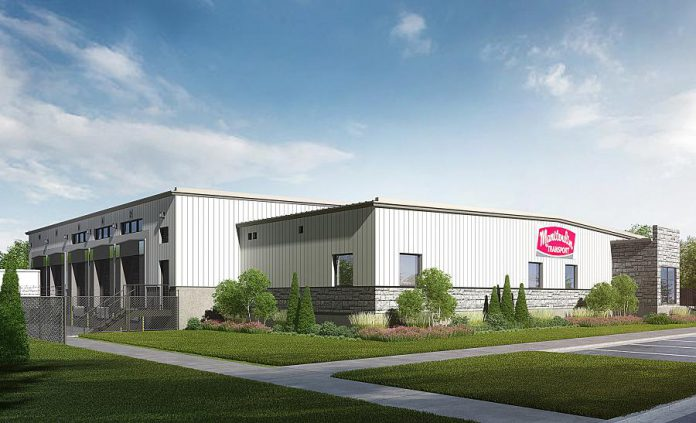 A rendering of the new  Manitoulin Transport terminal in Peterborough. (Supplied photo)