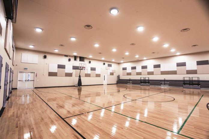 The LIFE Centre at Hiawatha First Nation includes a gymnasium that doubles as an event performance space, which will be available for rent by surrounding communities in the future. (Photo courtesy of Hiawatha First Nation)