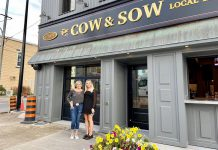 Owners Lorraine and Emily Forbes in front of The Cow and Sow Eatery in Fenelon Falls. The mother-and-daughter team have completed extensive renovations to the popular restaurant and bar and held a trial opening on October 15, 2021, with an official opening coming soon. (Photo: The Cow and Sow Eatery / Facebook)
