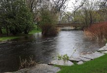 A flood watch means flooding is possible in specific watercourses or municipalities. Municipalities, emergency services, and individual landowners in flood-prone areas should prepare. (Photo: Otonabee Conservation)
