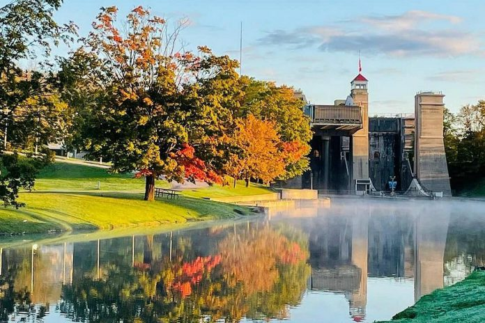 The shot by Lori McKee of the beginning of fall at the Peterborough Lift Lock was our top Instagram post in September 2021. (Photo Lori McKee @l_mckee / Instagram)