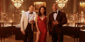 """Ryan Reynolds, Gal Gadot, and Dwayne Johnson star in the new Netflix action comedy """"Red Notice"""", premiering on November 12, 2021. (Photo: Frank Masi / Netflix)"""