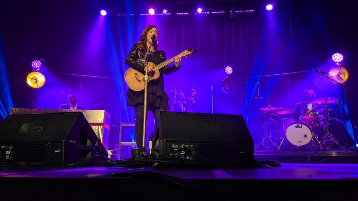 Canadian pop superstar and Millbrook native Serena Ryder performing at a sold-out Showplace Performance Centre on December 21, 2019, one of the final concerts at the downtown performance venue before the pandemic shut down all live music. (Photo: Bruce Head / kawarthaNOW)